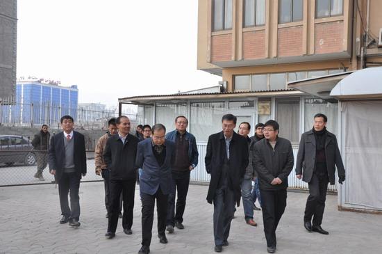 王道好参赞陪同姚敬大使走访慰问驻阿中资企业