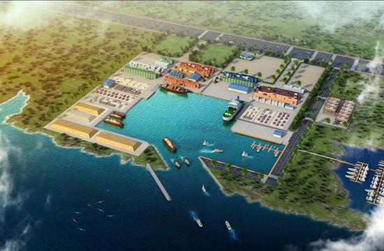 港口手绘平面图