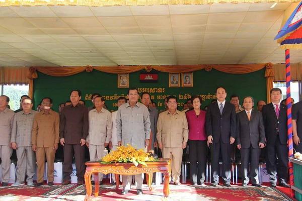 洪森首相出席达岱水电站项目验收运营大会暨发电仪式