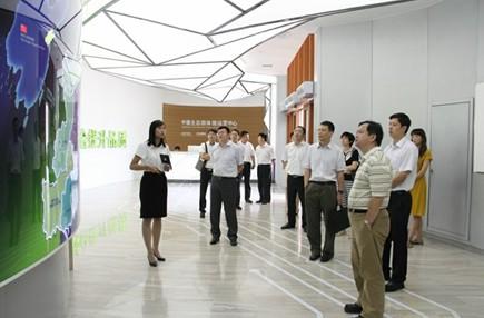中德生态园联合发展公司董事长汪舵陪同调研.