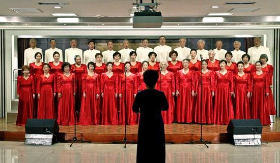 老年大学合唱团参加 歌唱祖国 合唱歌会节目遴选暨汇报演出