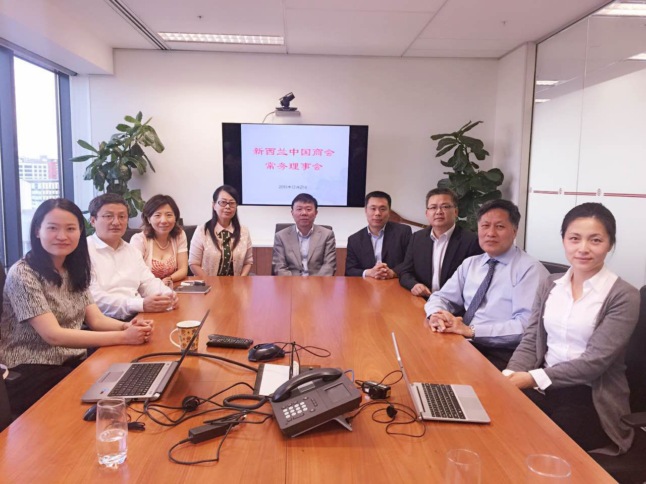 张帆参赞出席新西兰中国商会常务理事会
