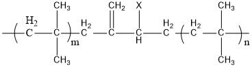 卤化丁基橡胶主分子结构式