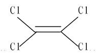 四氯乙烯化学结构式
